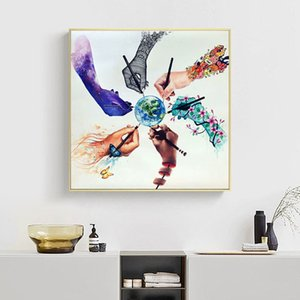 Zeichnen Sie Erdabstrakte Poster Nordic Leinwand-Wand-Kunstdruck Natur Minimalist Bild Scandinavian Dekor Malerei