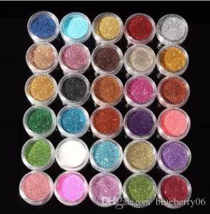30шт смешанные цвета Пигмент Блеск Минеральный Spangle Eyeshadow Макияж Косметика Установить Макияж Shimmer Сияющий тени для век