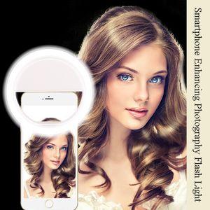 Litwod Z28 Téléphone portable Selfie Anneau Flash lentille beauté Remplir Lampe Lumière Clip Portable pour Photo Appareil Photo Pour Téléphone Mobile Smartphone