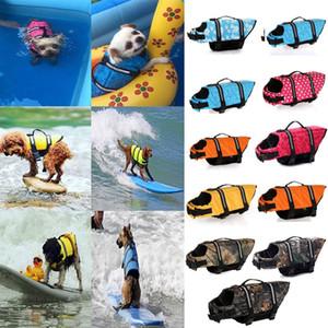 Kol Ayarlanabilir Yansıtıcı Pet Yüzme Suyu Hayat Vest ile Köpek Can Yeleği