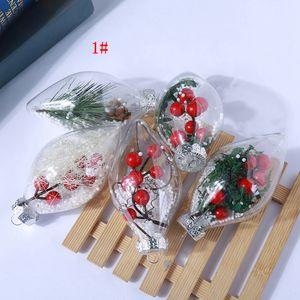Zeytin Şeklinde Plastik Top Şeffaf Yeşil Dikim Noel Toplar Temizle Ağacı Asma Noel Ağacı Kolye Çocuk Parti Hediyeleri FFA3009 lehine