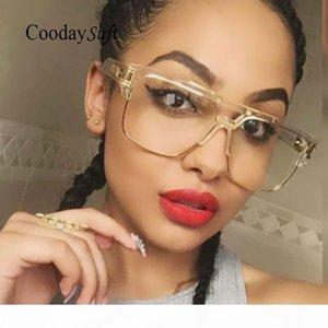 Luxus-Coodaysuft Marke Designer Maxi-Männer Sonnenbrille-Frauen-Flat Top Sun-Glas-Rahmen-Platz Männlich Klar Transparent Männlich Weiblich