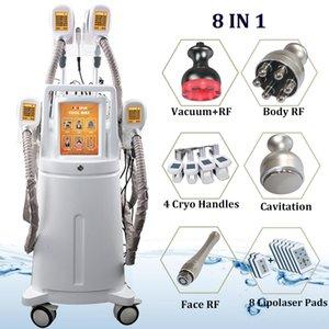 4 Hand- und Winkelstücke Cryolipolysis Fett Einfrieren Maschine Cryo-Therapie Bauchfettzellentfernung Cryo Doppelkinn Slimming Ausrüstung
