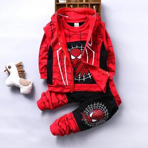 Spiderman Baby Baumwollsportkleidung für Kinder Kühlen Spiderman Kleider Drei Kids'clothes
