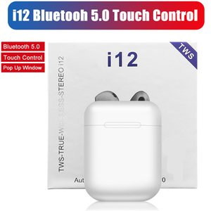 TWS Wireless Earphones i12 Touch Control Earbuds Bluetooth 5.0 Headphones Sport Headsets For iPhone Xiaomi Samsung Smartphone In Retail Box