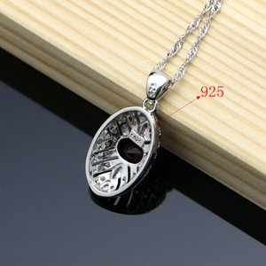 Bridal Silver 925 Jewelry Set Blue Natural Zircon Costume Jewelry Kits For Women Earrings Pendant Rings Bracelet Necklace Set