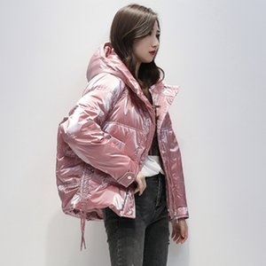 Winter Thick Duck Down Jacket Hooded Women Short Coat Warm Pink blue Puffer Coat Female Down Parka Outerwear Waterproof