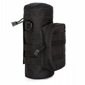 2020 Aire libre Molle botella de agua de la bolsa bolsa de equipo táctico Hervidor hombro de la cintura para aficionados del Ejército Escalada Bolsas de agua que va de excursión