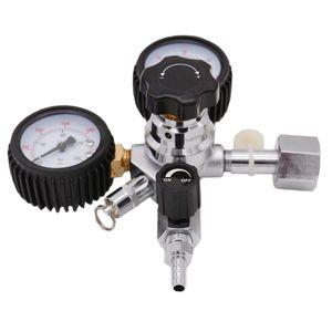 Heavy Duty Dual Gauge CO2 Regulator Homebrew Kegging Draft Beer Kegerators Regulator Safety Pressure Relief Valve