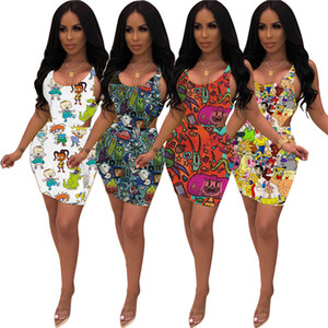 Femmes Razmoket 2 pièces Robes mignon manches Jumpsuit + Jupes Costume Cartoon One Piece Bikini + Jupes d'été Sexy Vêtements DHL gratuit 3020
