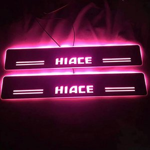 LED에 오신 것을 환영는 문 문턱 판 RUNNING 바 플레이트 커버가 HIACE CAR 2PCS / SET LED 인테리어 몰딩 LIGHTTING에 맞는 조명