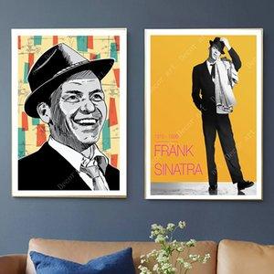 Pop Art Frank Sinatra Musik Sänger Leinwand Gemälde Vintage Wand Kraft Poster Beschichtete Wandaufkleber Wohnkultur Bilder Geschenk