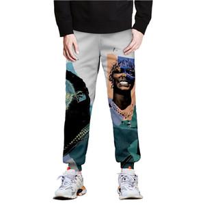 Mens POP SMOK Bleistift-Hosen-RIP Singer 3D Printed Frühlings-elastische Taillen-Hose-Laufhose für Männer
