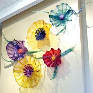 100% mão soprado de Murano Vidro de suspensão placas de parede Arte Dale Chihuly Estilo vidro borosilicato Art Hand Blown luz moderno para casa e hotel