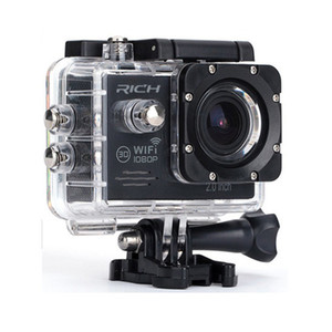Freeshipping Action Camera Full HD 1080P Wifi 170 Degree Lens Go pro Style Waterproof 30M Sport Camera+Aluminum Extendable Pole Stick+bag