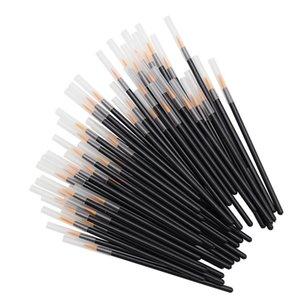 Tek kullanımlık Eyeliner Fırçalar Bireysel Aplikatör Süper Fiber Çubukla Eyeliner Sıvı Değnek Eyeliner Profesyonel Fırça 50 adet / takım RRA1188