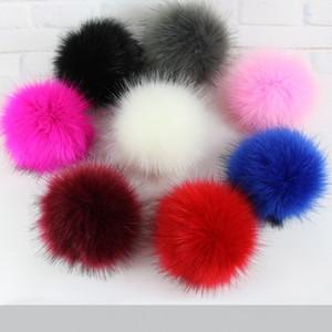 Artificial Faux Fox Fur Ball Moda Sensação de Simulação Suave Artesanato Ferramentas de Decoração Do Partido DIY Chave Da Cadeia Botão de Imprensa Chapéu De Tricô TTA60