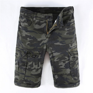 Mens Designer Camouflage Cargo Denim Shorts 2019 Sommer Tasche Große Größe Lässige Camo Jeans Shorts Hose 305-1