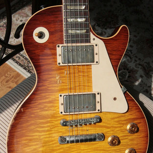 Chitarra elettrica di qualità invecchiata Chitarra elettrica Guitars Guitars in madreperla Inlay, perla