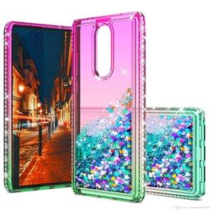 per LG Stylo 6 K51 A10E A20E A20 A30 A50 Nota 10 pro caso di scintillio della cassa del diamante del telefono Liquid Quicksand Soft Cover gradiente chiaro Shell