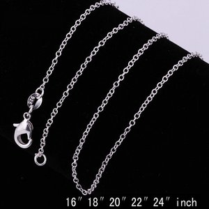 Designer Necklace 10PCS 925 Silver 16-24inch Chain Designer Necklace Hip Hop Bling Chains Jewelry Men Luxury Designer Jewelry Women Necklace