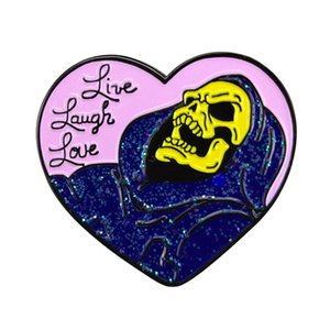 Skeletor Ele Homem Os Simpsons Masters Of The Universe Esmalte Pin Badge com Glitter