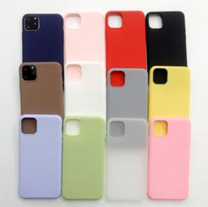 Creative nouveau téléphone mobile givré noir cas couleur bonbon givré tpu coquille pour téléphone mobile Apple iphone11 cas