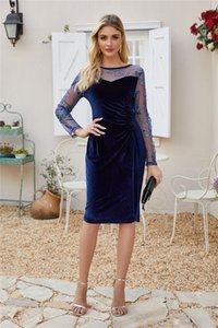 European and American women new winter explosion models sequined dress station in embroidered dress