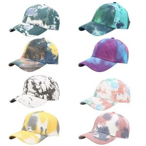 Tie dye Denim Baseball Cap Unisex Cotton Adjustable Snapback Cap Summer Outdoors Leisure Time Sun Hat DDA105