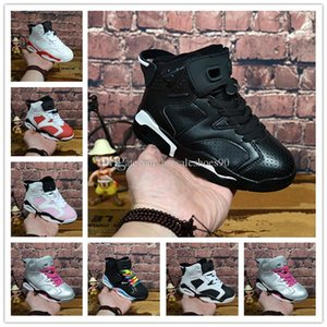 2018 Children Basketball shoes Boys Girls 6 6s Sneakers Youth Kids Sports Basketball Sneakers Shoes 28-35