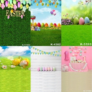 Пасхальная фотография ткань Baby Birthday Party Photography Backdrops 1.5 m*2.1 m Happy Easter Egg Photo Background Art Cloth