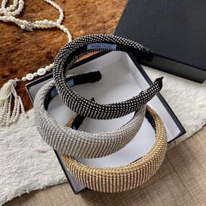 Womens Headbands melhor partido meninas Qualidade Moda P Estilo completa Pedrinhas Bling Hairbands luxuoso do casamento Faixa de Cabelo Atacado