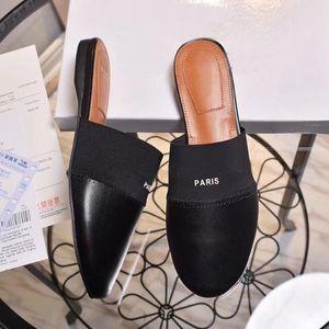Bayan moda Siyah Bedford Deri Terlik kızlar Taneli nappa deri slip-on loafer'lar Yuvarlak ayak kauçuk taban