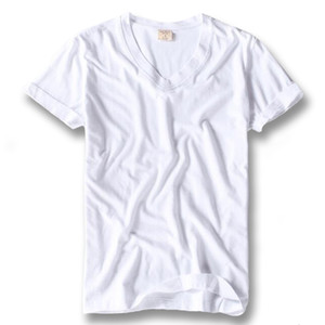 iSurvivor 2019 Men Summer Short Sleeved 100% Cotton V Neck T Shirts Tees Male Casual Fashion Slim Fit Large Size T Shirts Hombre