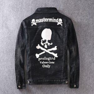 Mens 2020 Luxury Designer Clothes modo di marca stampa casuale Lettera Distintivo Giacca di jeans Chiodo nero Skull del cappotto del progettista del Mens Jacket