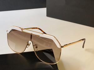 Tamaño de la manera del nuevo diseñador gafas de sol retro sin marco Gafas de sol estilo punky del cuadro de calidad superior de Eyewear UV400 Protección Con