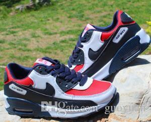 Envío GRATUITO 90 Paquetes de aniversario Bronce Negro Infrarrojos Zapatos para caminar Hombres Mujeres Marca Zapatillas de deporte Zapatos casuales 787