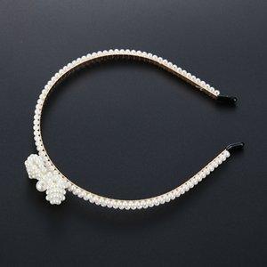 Princess Crystal Tiaras and Crowns Headband Kid Girls Bridal Crown Wedding Tiara Hair Accessories Pearl Hair Bands Jewelry