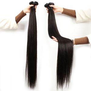 madeixas de cabelo 28 30 32 34 polegadas de cabelo humano Remy brasileira 3pcs cutícula de cabelo de grau alinhados extensão 9A linear não transformados matérias Indiana