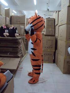 Atacado de alta qualidade boneca quente dos desenhos animados Adorável Big Tiger transporte Mascot Costume gratuito