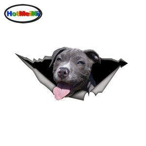 Großhandel Lustige Grau pitbull Vinyl Aufkleber Haustier Hund Autoaufkleber Wasserdichtes 3D Car Styling Dekoration
