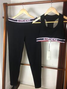 Luxuxfrauen Tracksuits Crop Tops elastische Hosen Marke Anzüge dünne 2ST Design Yoga-Sets Yoga-Klagen Laufen Unterwäsche-Groß A1 B105248L
