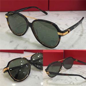 Neue Mode-Design-Sonnenbrille 0159 Platte Piloten Rahmen mit Metallring Retro-Avantgarde Mode-Stil für Frauen Top-Qualität Großhandel