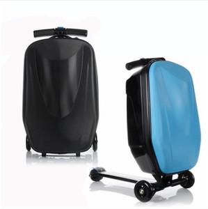 Valigetta trolley da spinner Valigetta da viaggio Letrend Men Skateboard Business Rotella portabagagli Borsa da viaggio per donna