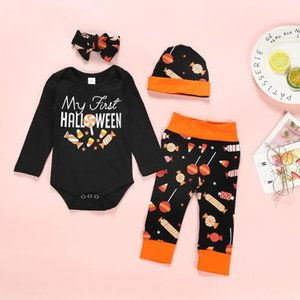 Halloween Baby Boy Clothes Romper Long Sleeve Tops+ Striped Pants+Hat Outfits Costume Set Newborn Baby Girl Clothes