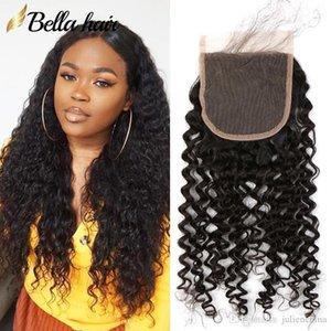 Bella Hair 4X4 inch Curly Wave HD Swiss Lace Closure Brazilian Peruvian Virgin Human Hair Natural Black Lace Closure With Baby Hair Soft