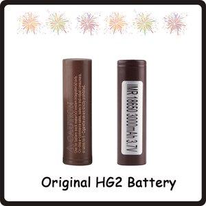 100% authentique 18650 HG2 3000mAh Capacité Max 35A Batteries Décharge Élevée Batterie au Lithium HG2 pour Cigarette Electronique 100W Fedex
