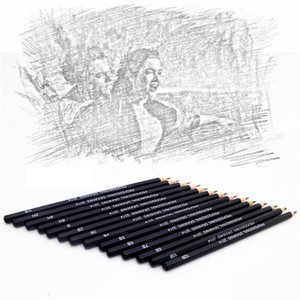 14 Pcs set Professional Sketch and Drawing Writing Pencil Stationery Supplies 1B 2B 3B 4B 5B 6B 7B 8B 10B 12B 2H 4H 6H HB Pencil