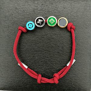 Nueva joyería de diseño de lujo brazalete de acero inoxidable de encaje de la cinta de la hebilla de metal 4 hasta cadena multicolor las mujeres de talla ajustable pulseras populares
