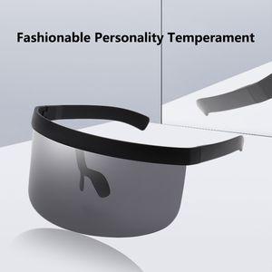 1 piece. 2020 anti-voyeur sun visor integrated UV protection sunglasses men and women fashion sun protection sunglasses.